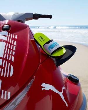 フェンティ プーマ バイ リアーナのサンダル「サーフ スライド」、スポーツ着想の爽やかな一足