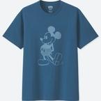 """ユニクロ""""藍色""""ミッキー&ミニーのディズニーTシャツ、メンズ&ウィメンズで発売"""