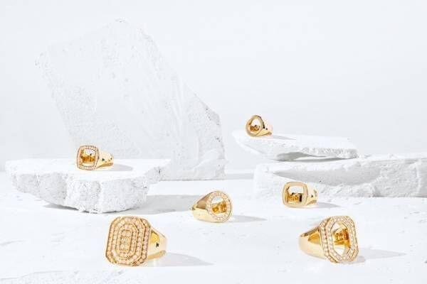 """トムウッド限定""""シグネットリング""""ドーバー銀座で発売、ゴールド&ダイヤモンドの装飾"""