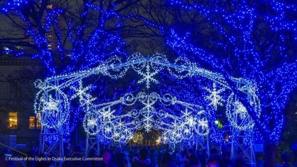 「大阪・光の饗宴2018」御堂筋イルミネーションや光のアートフェス「OSAKA光のルネサンス」