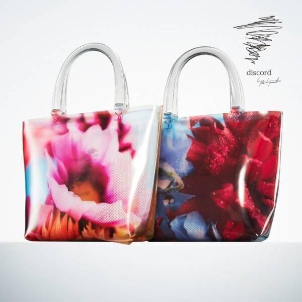 ディスコード ヨウジヤマモト×蜷川実花より夏のクリアバッグ、みずみずしい花プリントで涼やかに