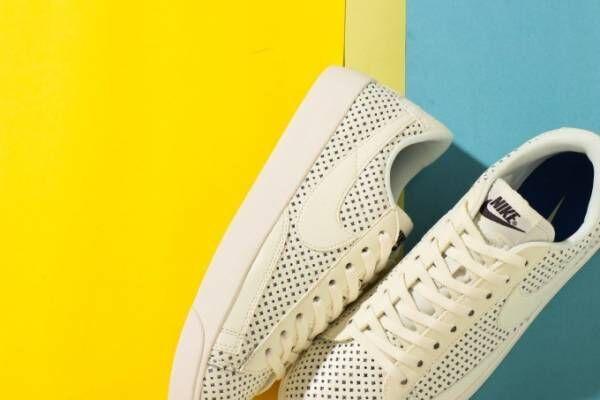 ナイキ ブレーザーの新スニーカーアトモス限定発売、夏色カラー&パンチング加工アッパー
