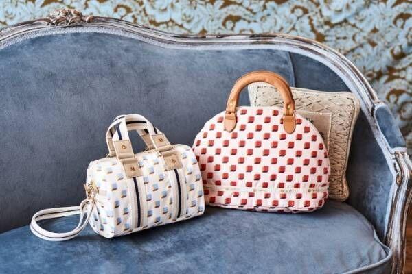 レスポートサック「角砂糖」柄の新作バッグ、コーヒー&ミルクカラーで - 風間ゆみえとコラボ