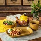 """「くまのプーさん」のキッチンアイテムが登場 - """"蜂蜜の壺""""を模したポットやウッド素材のプレート"""