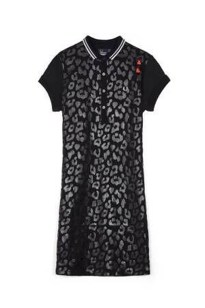 フレッドペリー×英国シンガー エイミー・ワインハウス、黒×黒のレオパードジャケットなど