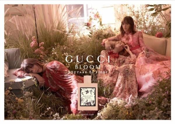 グッチのフレグランス「グッチ ブルーム ネッターレ ディ フィオーリ」花々で魅せる神秘的な女性像