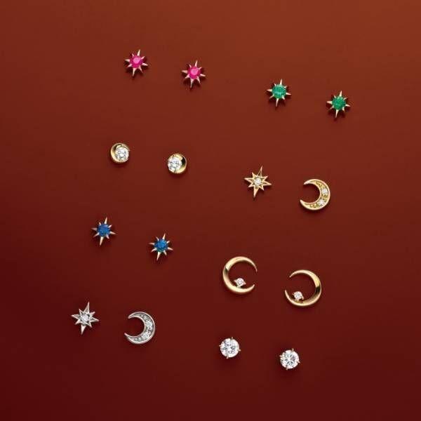 スタージュエリーのクロス×星を合わせた「クロッシングスター」新作、ダイヤ付きピアス&ネックレスなど