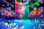 マクセル アクアパーク品川のハロウィンイベント、体験型カラフルアートで演出する海の世界