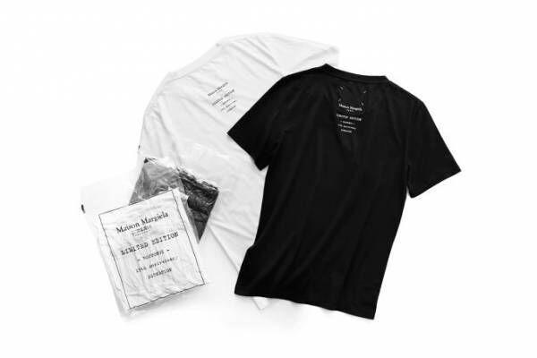 メゾン マルジェラよりエストネーション六本木限定ユニセックスTシャツ、テキストプリントの3枚セット