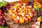 キル フェ ボン新作「オータムフルーツのタルト」カラフルなぶどうや柿&キャラメル風味のカスタード