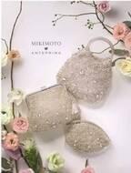 アンテプリマ×ミキモト「パール&バラの花びらモチーフ」を飾ったコラボワイヤーバッグ