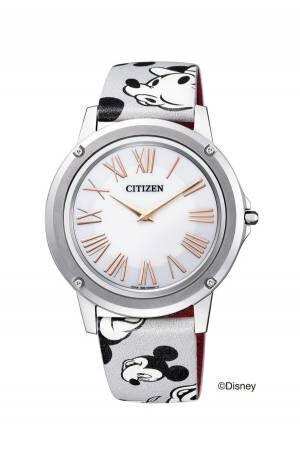 シチズン時計より、歴代ミッキーマウス7種の顔入り&特別刻印入り - 90周年を記念して
