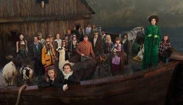 グッチ 19年クルーズ コレクションのビジュアル公開、神話「ノアの方舟」を舞台に