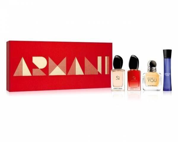 ジョルジオ アルマーニ ビューティのクリスマスコフレ&コスメ、人気香水&リップの限定セットや限定色