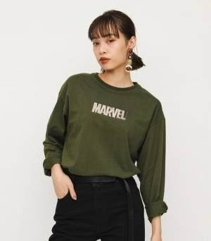 ディズニーストアとSLYの共同企画も「マーベルコレクション」マーベルロゴを配したTシャツ&パーカー