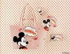 """キャス キッドソン、ディズニー""""ミッキーマウス""""コレクション発売 - ローズ柄のミッキーのバッグ"""