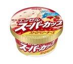 「明治 エッセルスーパーカップ ストロベリーチーズ」5年ぶりに発売、苺果肉×マスカルポーネの新配合