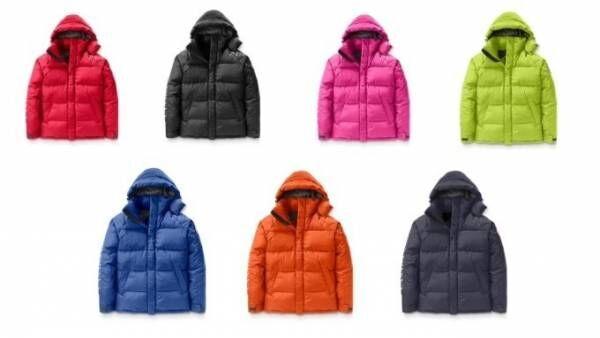 カナダグースの限定ダウンジャケット、撥水生地&7色のネオンカラー