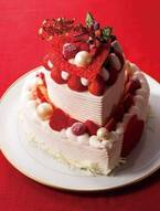 帝国ホテル 東京のクリスマスケーキ - ハート型ショートケーキやブッシュ・ド・ノエルなど
