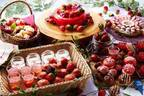 セント レジス ホテル 大阪の苺スイーツブッフェ「ストロベリー・マルシェ」苺市場をイメージ
