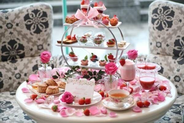 ホテル ラ・スイート神戸ハーバーランドにて「バラ薫る魅惑のストロベリーアフタヌーンティー」を開催