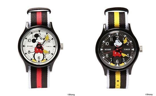 タイメックス×ビームスの限定コラボウォッチ、ミッキーマウスの両腕が時計の針に