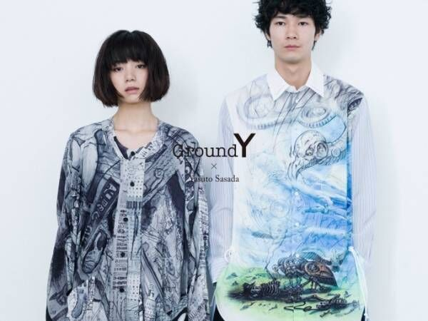 "Ground Y×現代美術家・笹田靖人、""密教""アートをオーバーサイズシャツやパンツに"