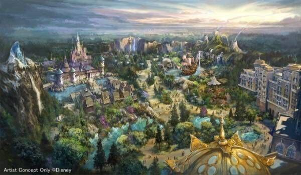 東京ディズニーシー『アナと雪の女王』『塔の上のラプンツェル』『ピーター・パン』の新エリアを22年開業