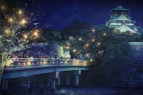 ナイトスポット「サクヤルミナ」大阪城公園に、自然×デジタルアートが輝く夜の森をナイトウォーク