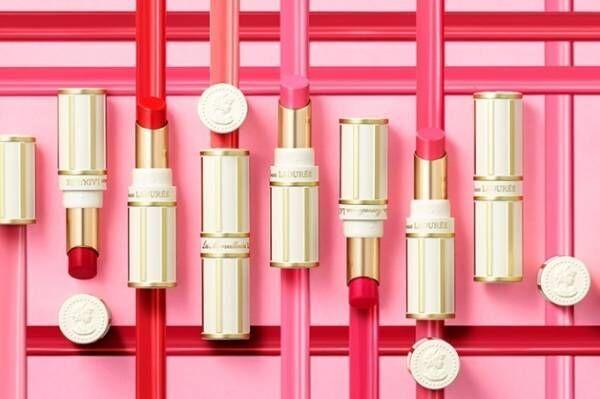 レ・メルヴェイユーズ ラデュレ「花と蝶々」がテーマの19年春コスメ、10色ピンクの新リップ カラー