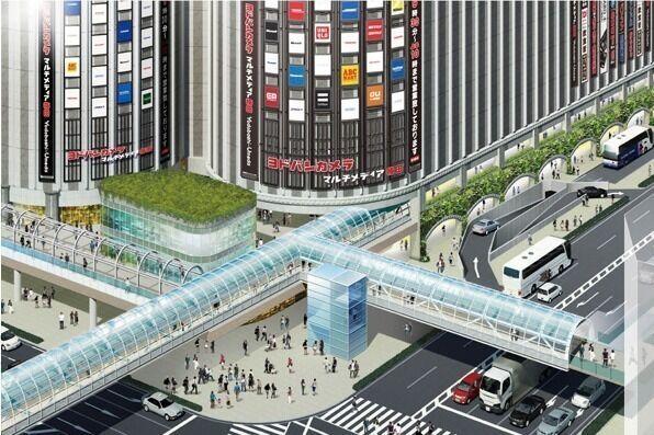 「リンクス ウメダ」大阪駅北口ヨドバシ梅田タワーにオープン、約200店の商業施設&市内最大級ホテル