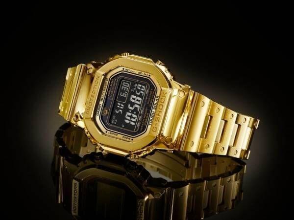 G-SHOCKから定番ウォッチ「DW-5000」の金無垢モデルが完全受注生産で登場