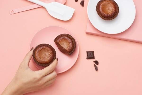 ベイク×ダンデライオン・チョコレート「焼きたてチョコレートチーズタルト」香り高い厳選カカオ豆使用