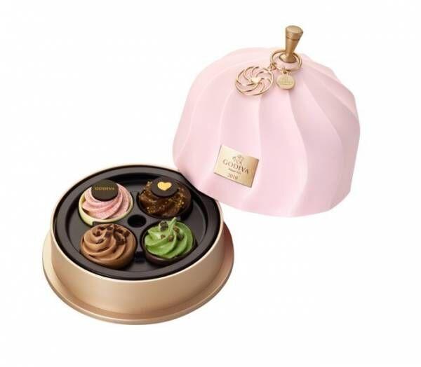 """ゴディバ2019年バレンタイン、""""妖精""""の贈り物の様な小さなケーキ型チョコレートの詰め合わせ"""