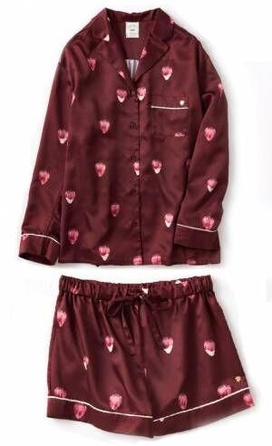 ジェラート ピケのバレンタイン、苺×チョコ柄ルームウェアやショコラ色チュールキャミソール