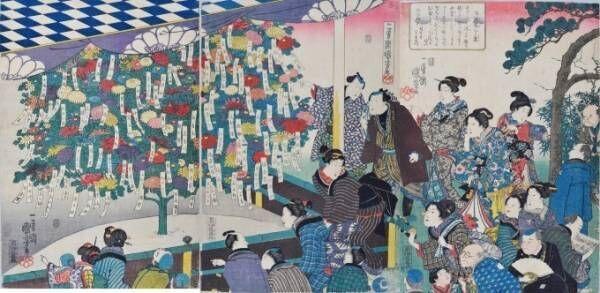 江戸庶民の草花への愛を200点の浮世絵で紹介 - たばこと塩の博物館で開催