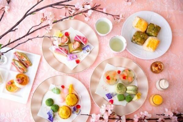 大宮璃宮の「桜と抹茶のアフタヌーンティー」桜咲く庭園を眺めながら楽しむ和スイーツ