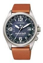 シチズン「プロマスター」×モンベルの腕時計、両ブランドロゴ入り文字板のカーフバンドモデルなど