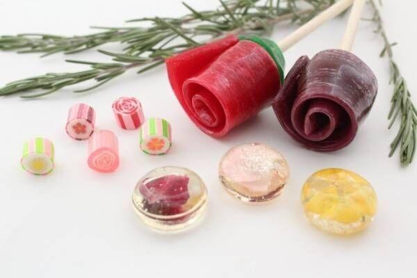 パパブブレ、食べられる花入りの宝石風キャンディや一輪花ロリポップなどホワイトデー限定で発売