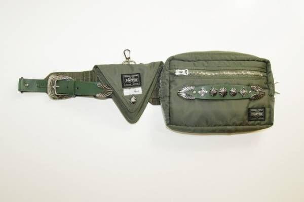 トーガ プルラ×ポーター、スタッズを飾ったベルトバッグや3wayメッシュバッグ