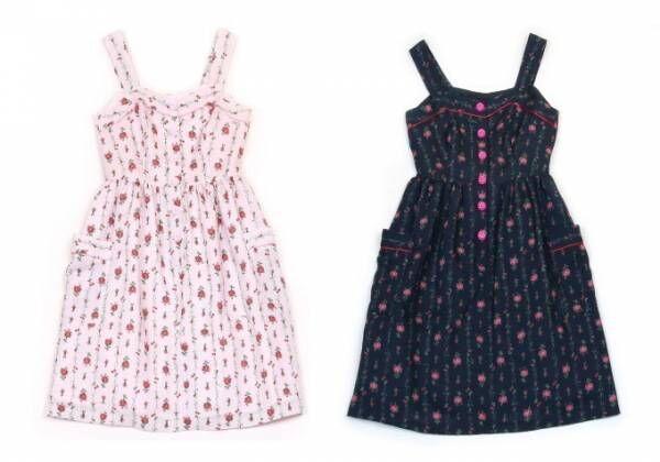 ミルク新作「ローズガーランド」バラ&チェリーのロマンティックドレス、ファー付きミュールも