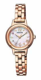 シチズン「ウィッカ」桜の花びらが舞うピンクゴールドの20周年記念腕時計