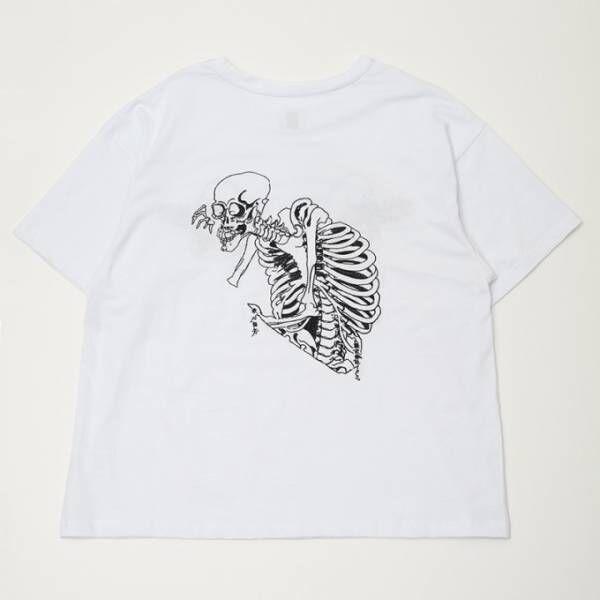 イクミ初の路面店が原宿にオープン、歌川国芳「骸骨」刺繡のTシャツ&スカジャン発売