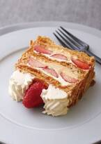 キハチ カフェの苺スイーツ、旬の苺×サクサク生地の「ナポレオンパイ」やモチモチ食感クレープなど