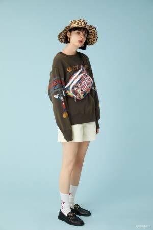 マウジーのディズニーコレクション19年春、サーフィンするミッキーマウスTシャツや刺繍シャツなど