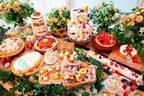 「イースターデザートブッフェ」東京など5か所で、真っ白ウサギの長いロールケーキ&贅沢いちごタルト