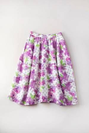 ジェーンマープルドンルサロン、花×水玉コクーンスカートや柄切り替えフリルドレスなど