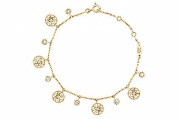 ディオールのファイン ジュエリー「ローズ デ ヴァン」ダイヤモンドチャームを配したブレスレットなど
