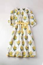 ジェーンマープルドンルサロン「ミモザ ジャカード」立体的なミモザの花を描いたワンピース&スカート