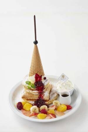 パンケーキ専門店「バター」錦糸町パルコにオープン、アイス&ワッフルコーンがそびえ立つ限定メニュー